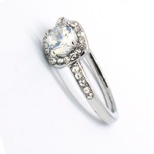 Alicia round brilliant prong set diamond CZ ring